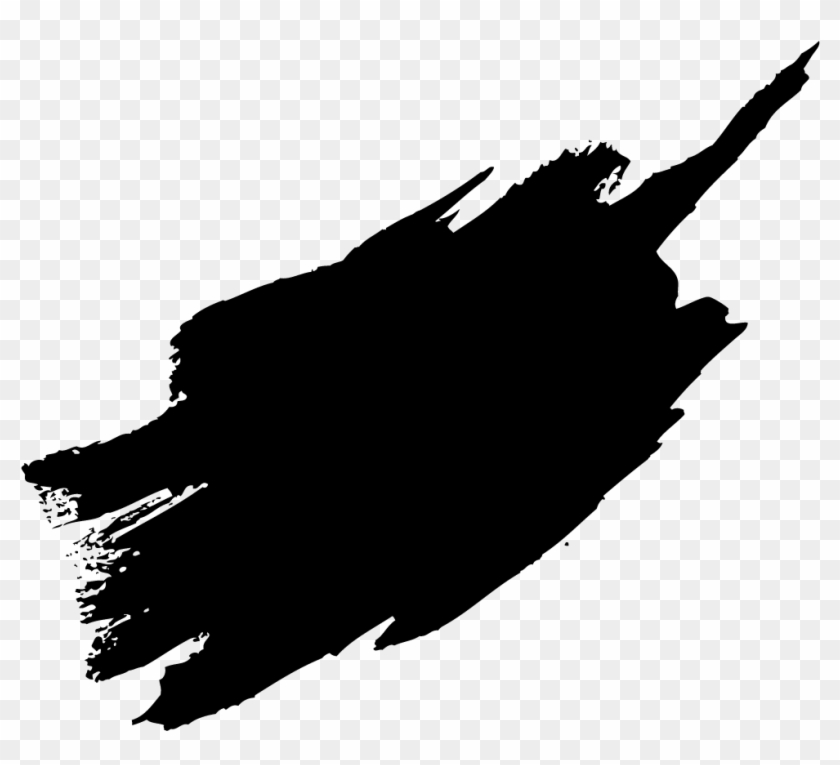 Paint brush strokes clipart black and white image royalty free download Black Paint Brush Stroke Png, Transparent Png - 979x846(#27007 ... image royalty free download