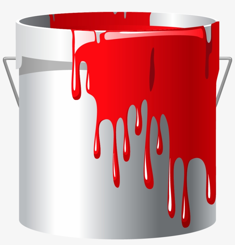 Paint buckets clipart svg library download Red Paint Bucket Png - Paint Clip Art Png Transparent PNG - 1000x995 ... svg library download