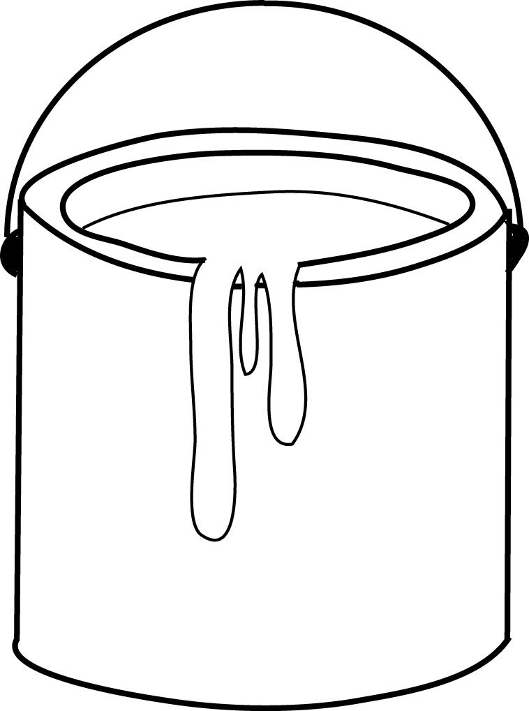 Paint buckets clipart black and white Paint Bucket Clip Art | preschool | Bucket drawing, Paint buckets ... black and white
