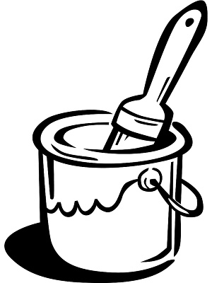 Paint can and brush clipart black and white vector transparent Paint Can Clipart | Free download best Paint Can Clipart on ... vector transparent