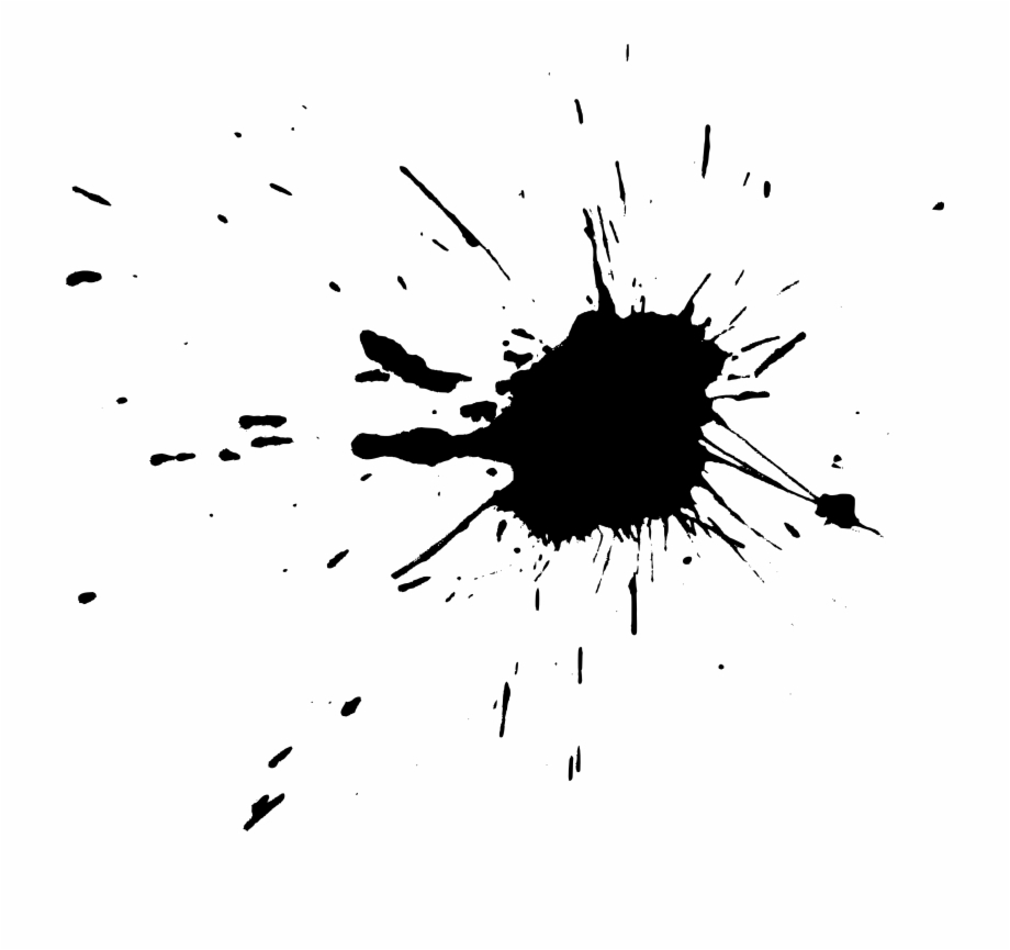 Paint clipart black and white no background clip free library Free Download - Transparent Black Paint Splatter Free PNG Images ... clip free library