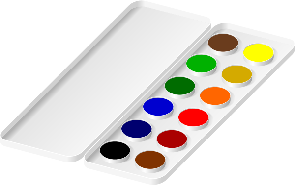 Paint tray clipart picture transparent stock watercolors paint tray | Clipart Panda - Free Clipart Images picture transparent stock