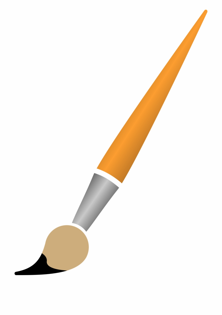 Paintbrush clipart no background png royalty free This Free Icons Png Design Of Paint Brush With Black ... png royalty free