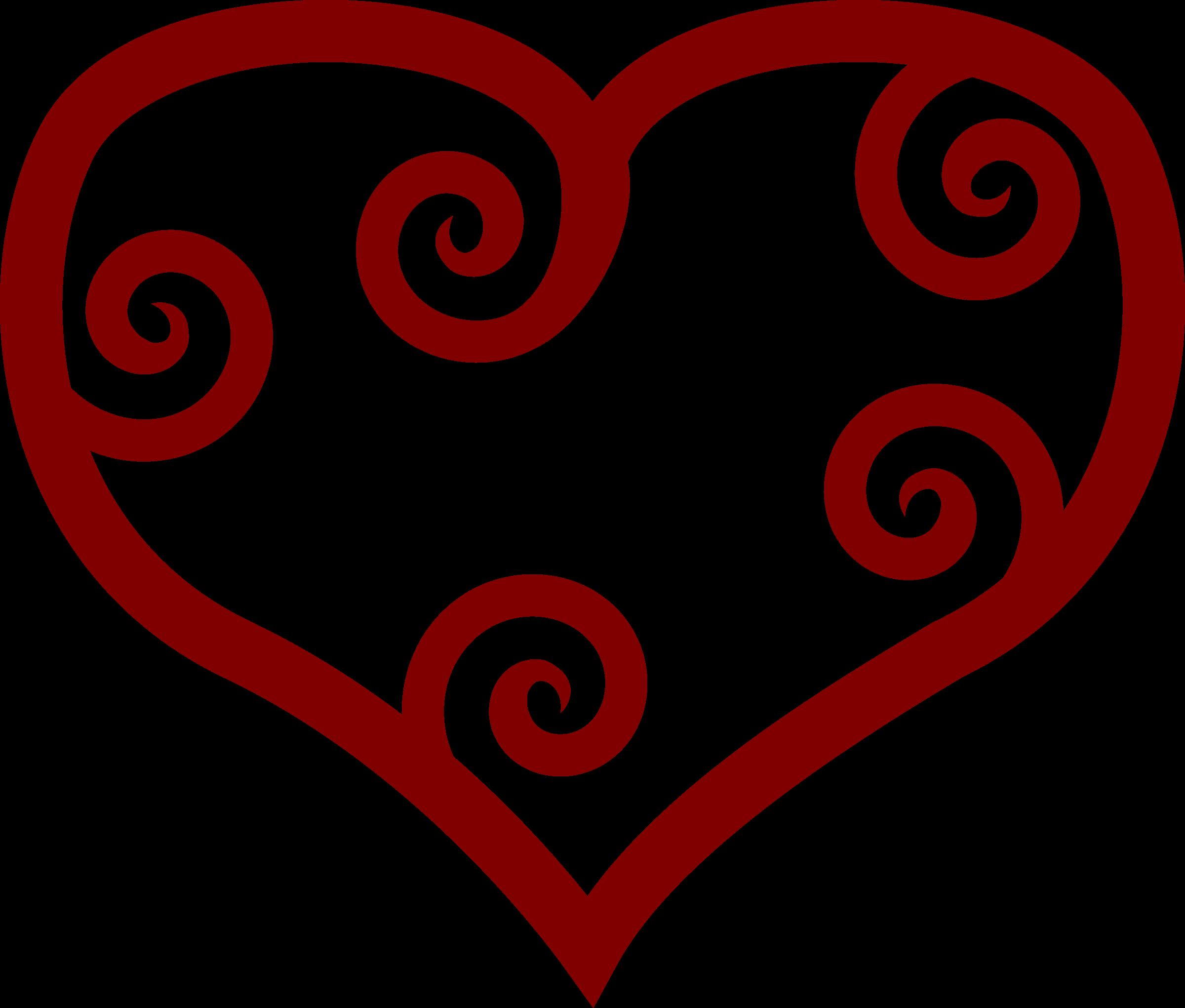 Painted heart clipart clip art transparent Clipart - Valentine Red Maori Heart clip art transparent