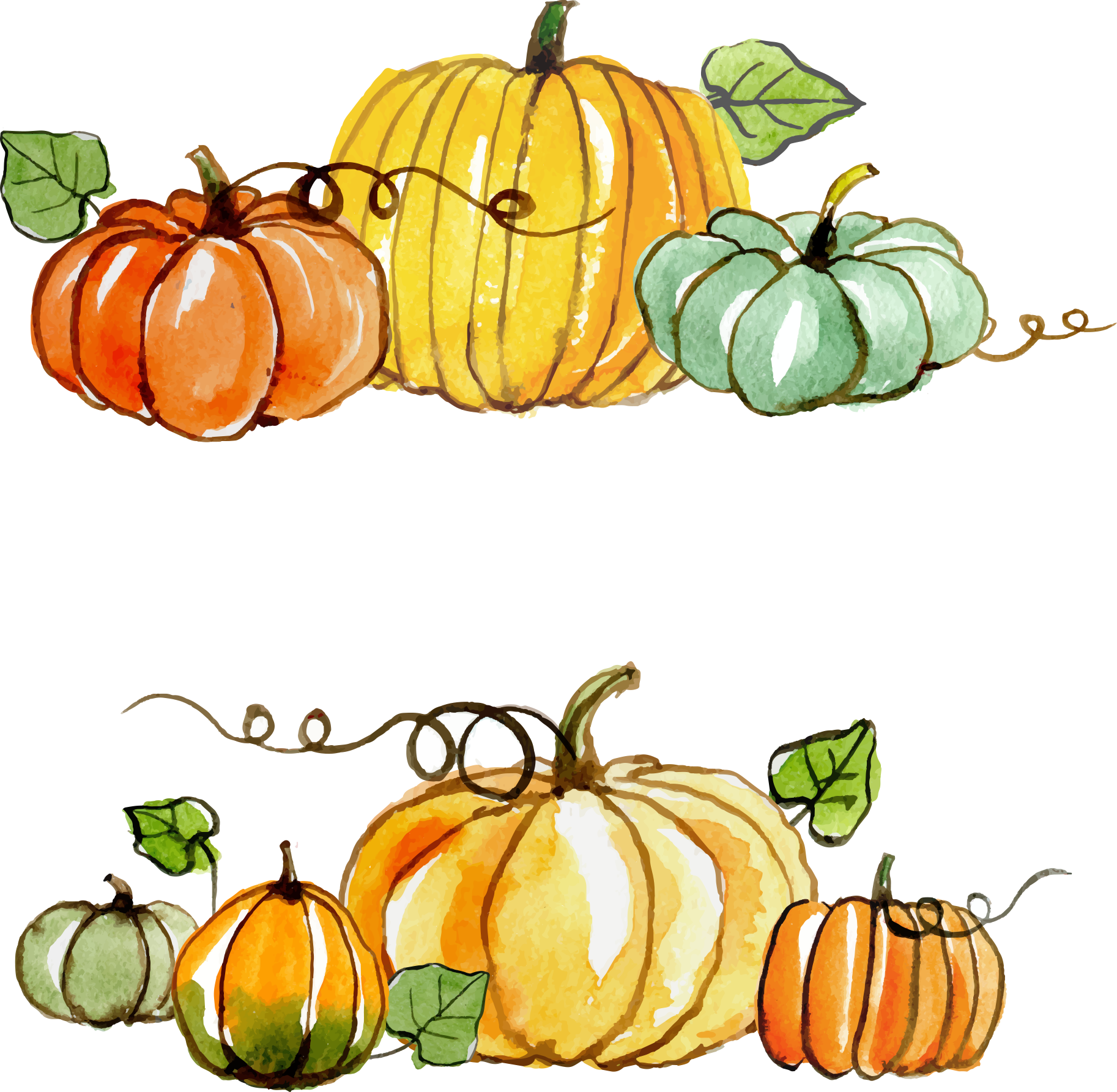 Pumpkin painting clipart vector freeuse download Thanksgiving Gratitude Gift Clip art - Thanksgiving pumpkin painted ... vector freeuse download