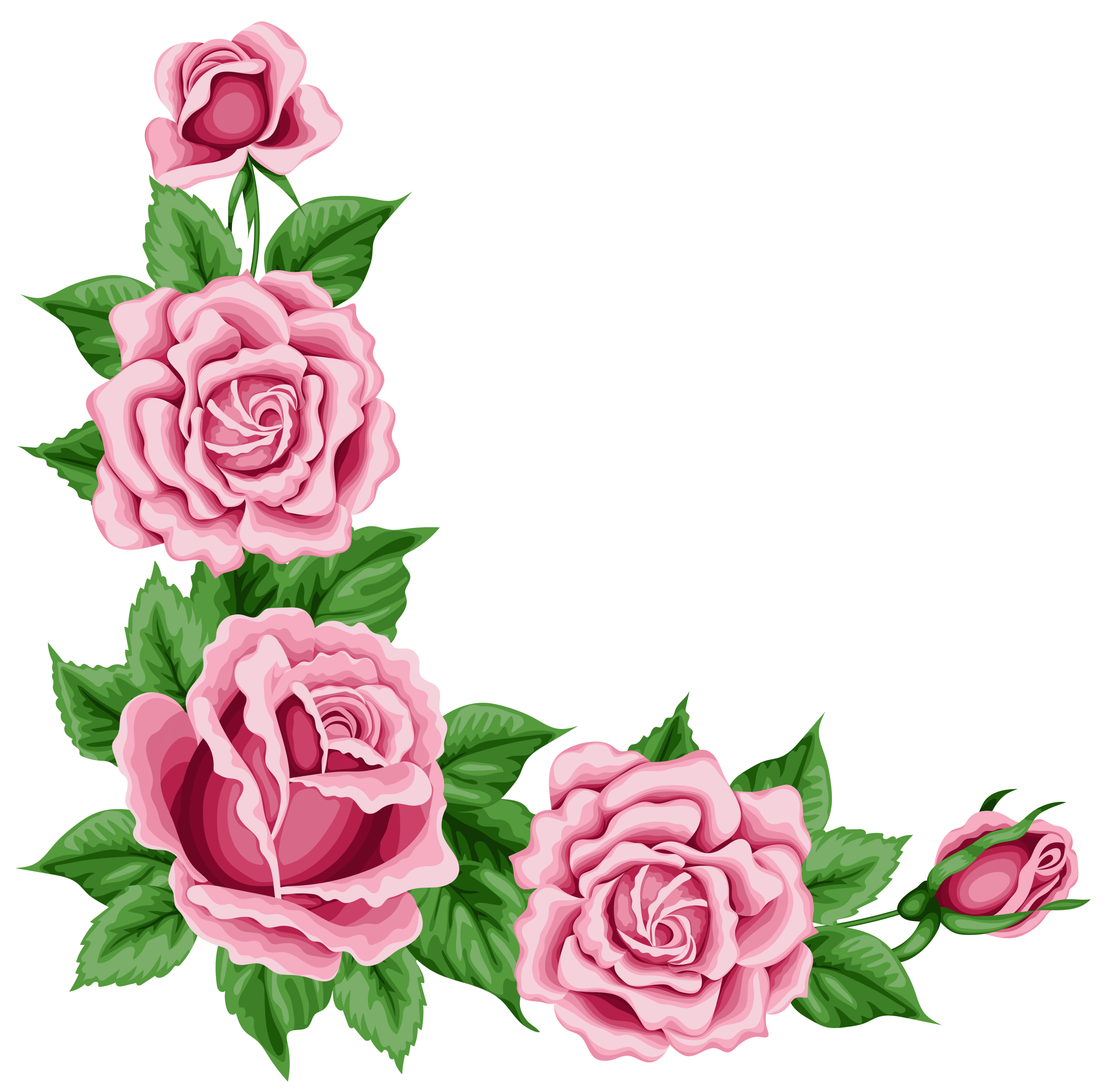 Painted purple roses for corner decorations clipart svg freeuse Rose Corner Clipart | Free download best Rose Corner Clipart on ... svg freeuse
