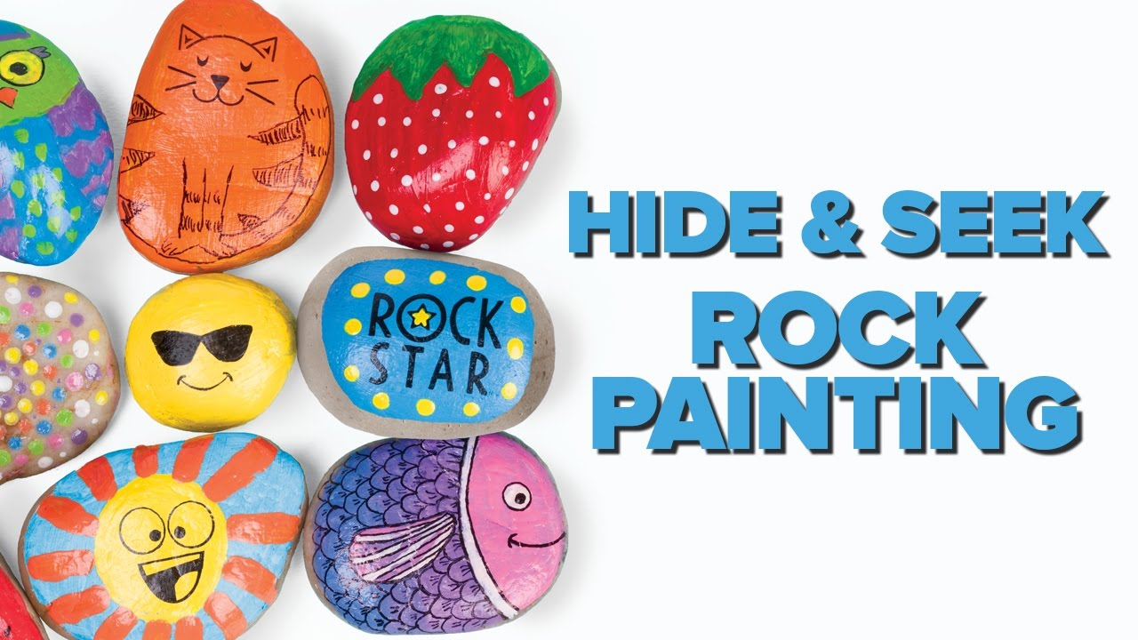 Painted rock clipart banner black and white library Hide & Seek Rock Painting by Creativity for Kids banner black and white library
