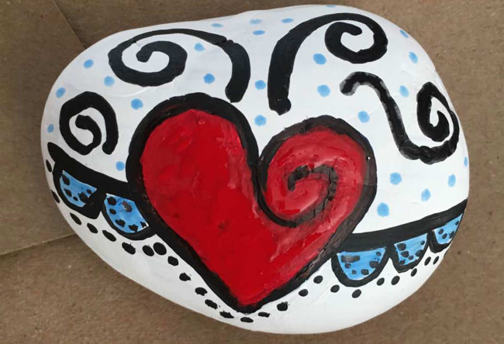 Painted rock clipart clip free stock Painted rock projects aims to promote kindness in the ... clip free stock
