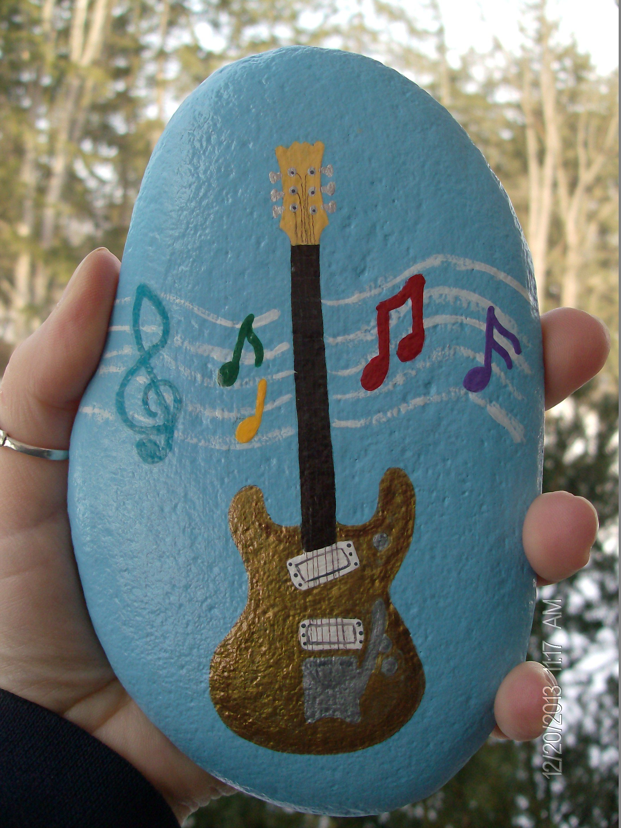 Painted rock clipart graphic free Don\'s Guitar | Crafts | Pinterest | Guitars, Rock and Rock ... graphic free