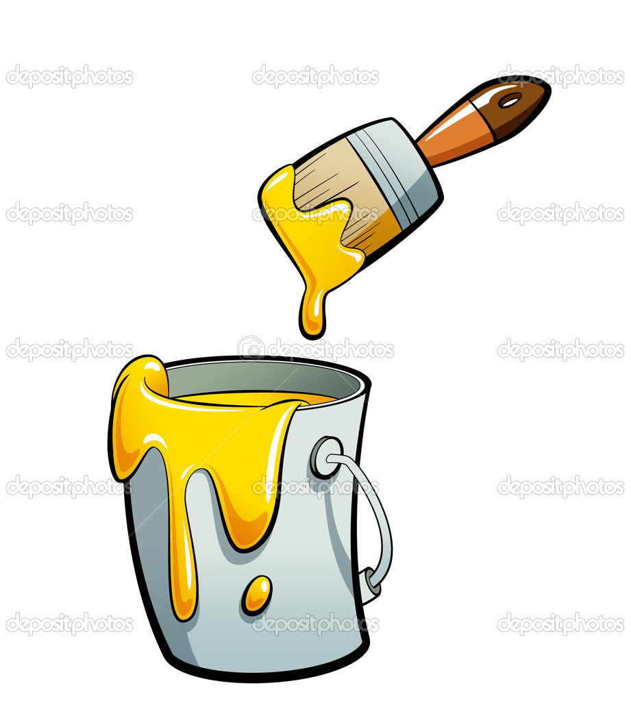 Painter with foot in paint bucket clipart clip art black and white download Paint Bucket Clip Art | Clipart Panda - Free Clipart Images clip art black and white download