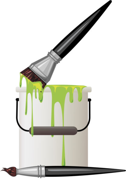 Painter with foot in paint bucket clipart graphic transparent library Collection of Paint bucket clipart | Free download best ... graphic transparent library