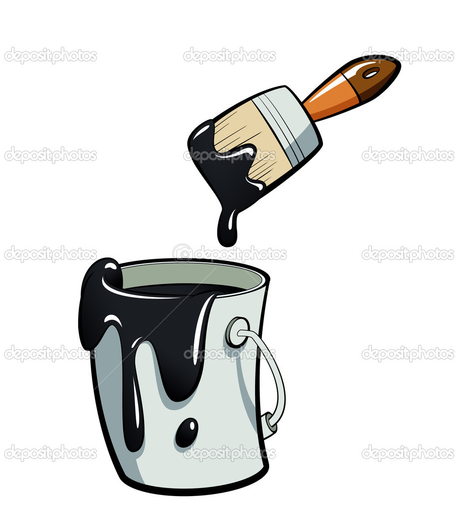 Painter with foot in paint bucket clipart banner library stock Paint Bucket Clip Art | Clipart Panda - Free Clipart Images banner library stock