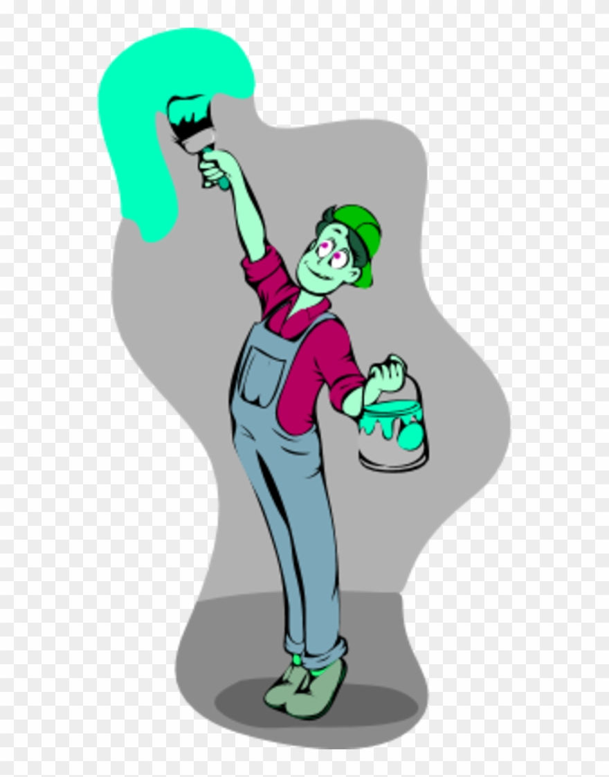Painting the wall clipart clipart Large Man Painting The Holding - Man Painting Wall Clipart - Png ... clipart
