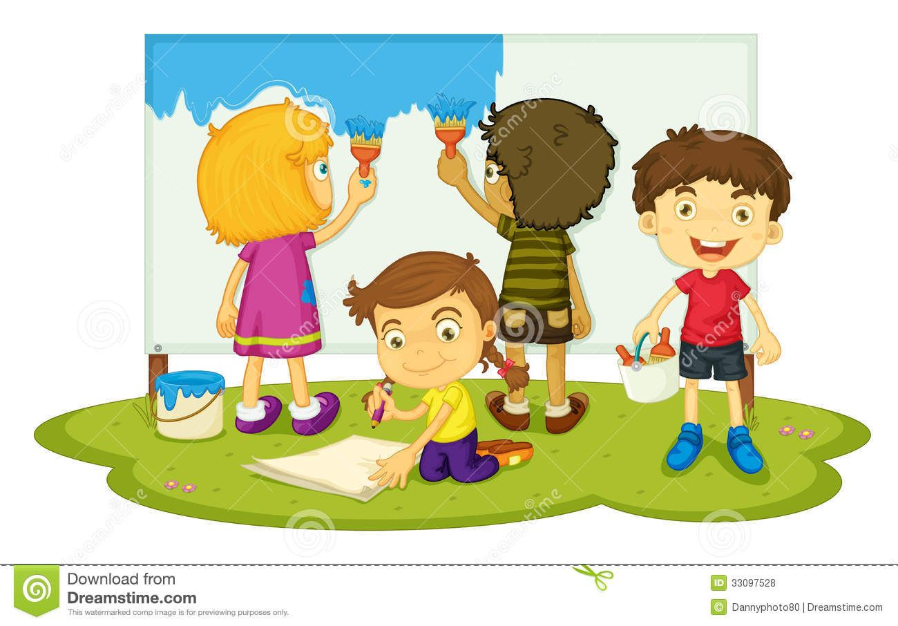 Painting the wall clipart jpg stock Kids Painting Walls Clipart | logo in 2019 | Painting for kids ... jpg stock