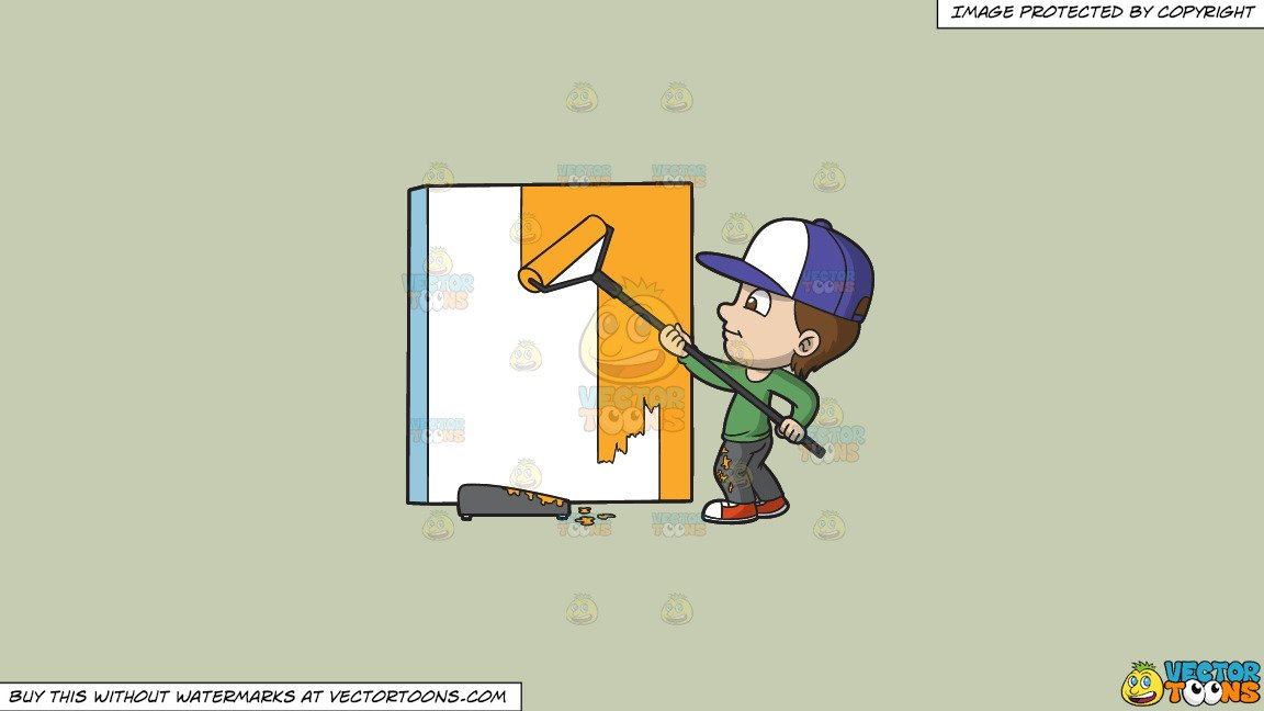 Painting the wall clipart clip library Clipart: A Boy Painting A Wall on a Solid Pale Silver C6Ccb2 Background clip library