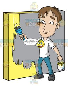 Painting the wall clipart png royalty free A Man Painting The Wall png royalty free