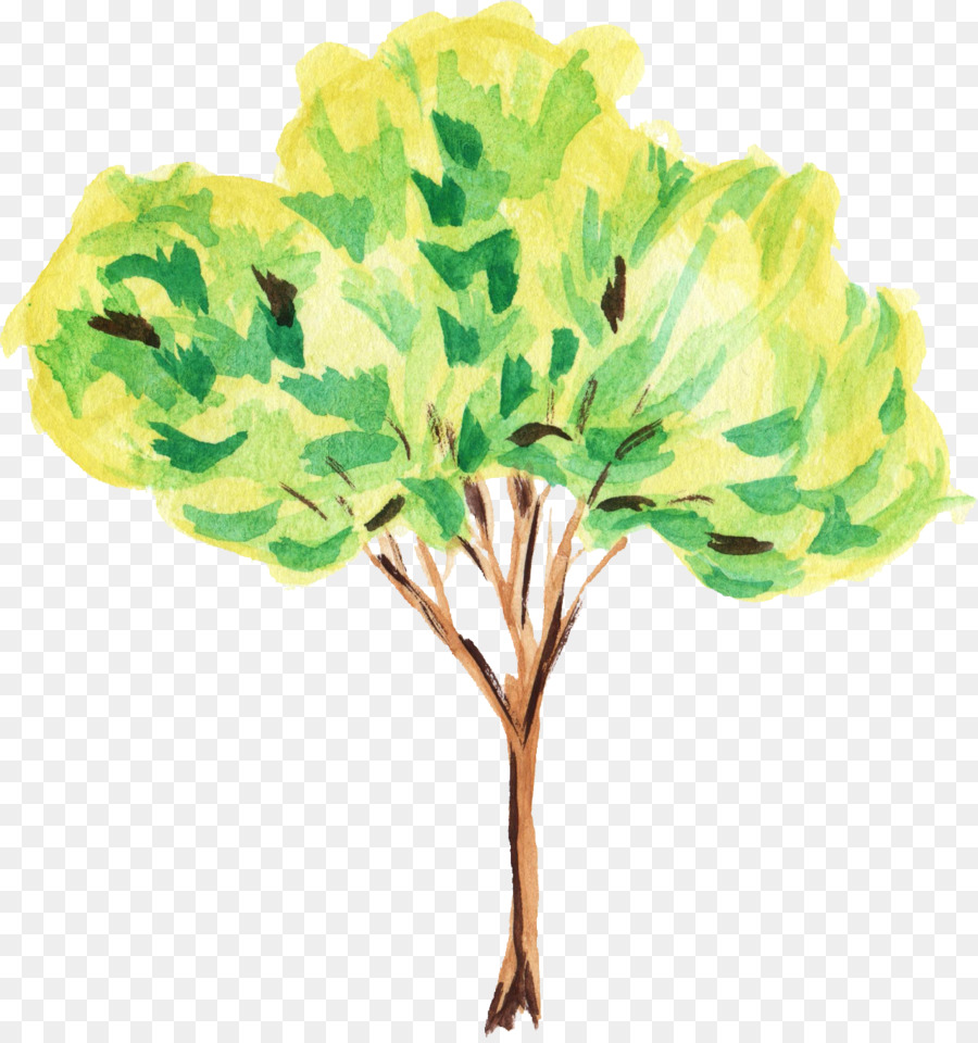 Painting tree clipart png black and white library Leaf Watercolor png download - 1281*1359 - Free Transparent ... png black and white library