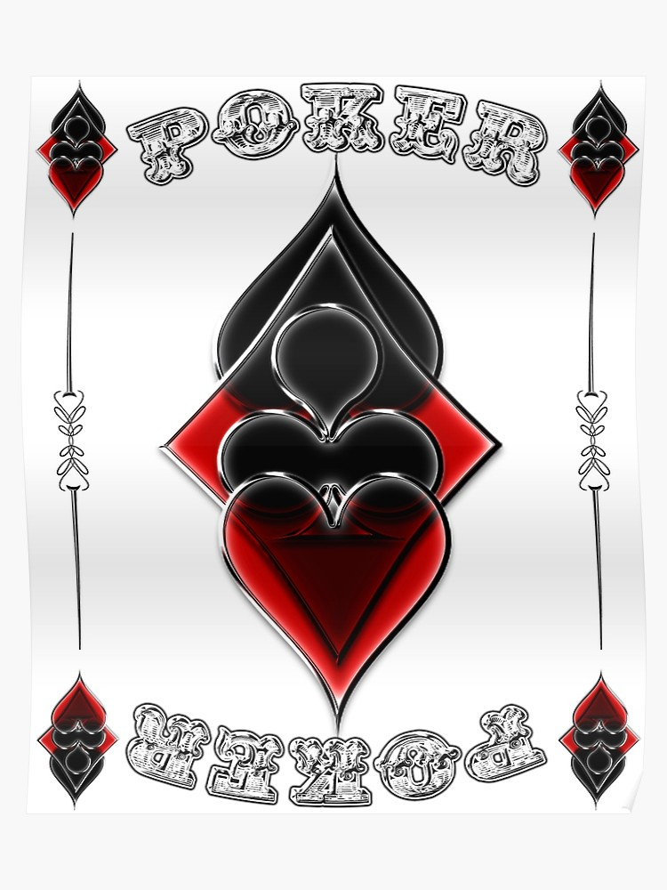 Pair of aces heart and spade clipart jpg library Great Poker Design Spades Hearts Diamonds Club Shiny Bling Overlap | Poster jpg library