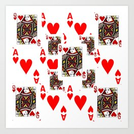 Pair of aces heart and spade clipart picture free Aces Art Prints | Society6 picture free