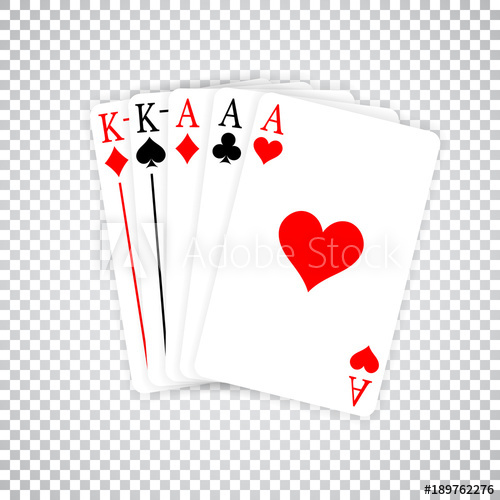 Pair of aces heart and spade clipart jpg black and white stock A Poker Hand Full House three Aces and pair of Kings playing cards ... jpg black and white stock