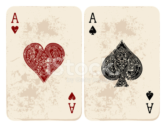Pair of aces heart and spade clipart banner free download Ace of Hearts & Spades Stock Vector - FreeImages.com banner free download