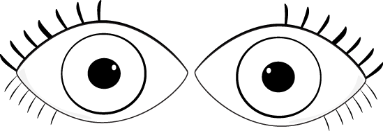Pair of eyes clipart black and white black and white Pair Of Eyes Clipart Black And White black and white