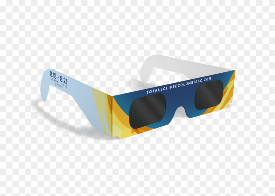 Pair of solar glasses-clipart vector black and white stock Eclipse Clipart Sunglasses - Reflection - Png Download (#1758665 ... vector black and white stock