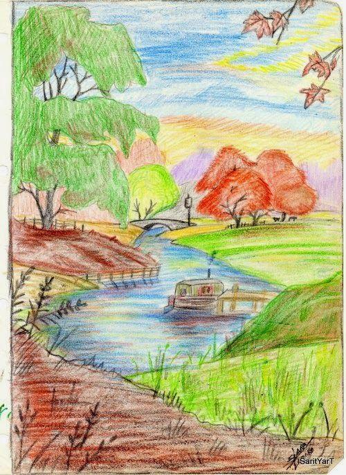 Paisaje lapiz color clipart png free download Paisaje lapiz color clipart - ClipartFest png free download