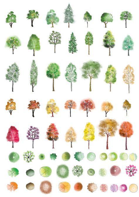 Paisajes clipart para photoshop vector freeuse Photoshop Colour Trees download | Colored Pencils | Architecture ... vector freeuse