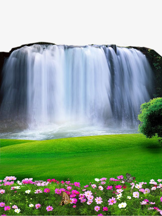 Paisajes clipart para photoshop royalty free download 2017 Waterfall Landscape Material, Waterfall, Beautiful Scenery ... royalty free download