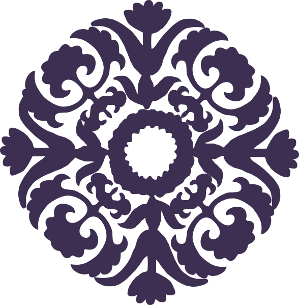 Paisley flower clipart vector freeuse Dark Purple Paisley Flower Clip Art at Clker.com - vector clip art ... vector freeuse