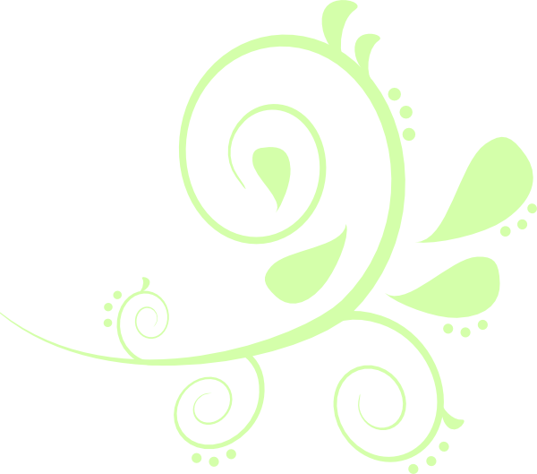 Paisley flower clipart vector black and white Paisley Curves Green Clip Art at Clker.com - vector clip art online ... vector black and white