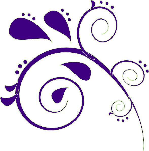 Paisley flower clipart clip freeuse Purple Paisley Clip Art at Clker.com - vector clip art online ... clip freeuse