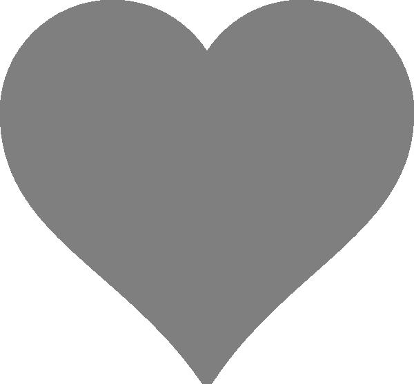 Paisley heart clipart png Solid Dark Grey Heart Clip Art at Clker.com - vector clip art online ... png