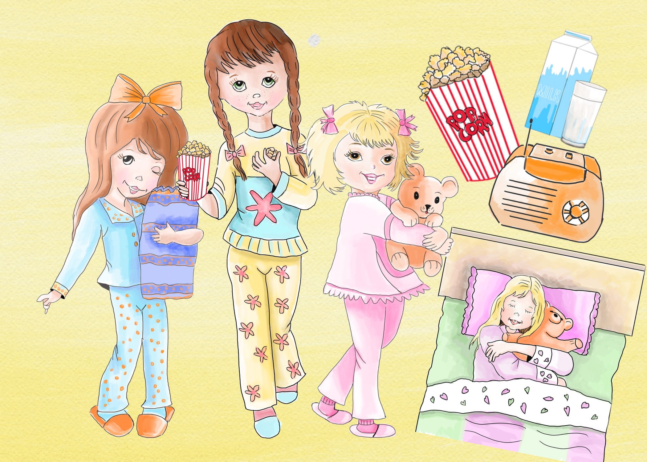 Pajama party clipart
