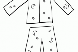 Pajamas black and white clipart png transparent stock Pajamas clipart black and white 4 » Clipart Station png transparent stock