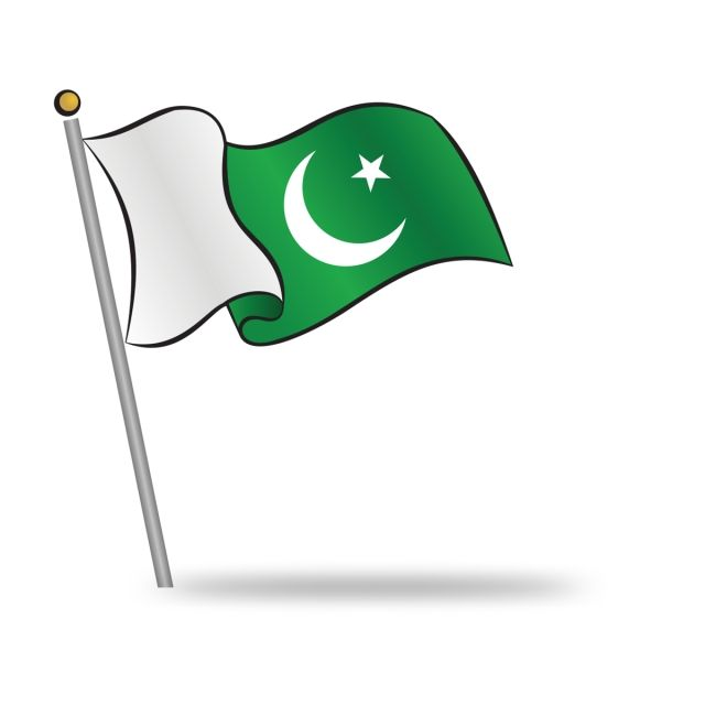 Pakistan flag clipart picture freeuse stock 2019 的 Pakistani Flag Waving On The Wind, Pakistan, 14th, August ... picture freeuse stock