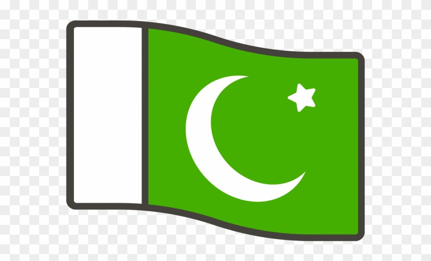 Pakistan flag clipart svg black and white Pakistan Flag Emoji - Pakistan Flag Png Clipart (#3951214 ... svg black and white