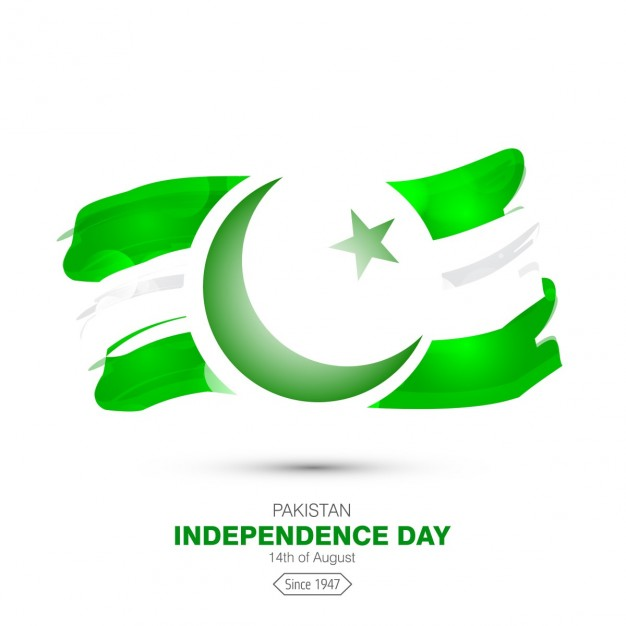 Pakistan independence day clipart graphic freeuse library Watercolor pakistan flag background Vector | Free Download graphic freeuse library