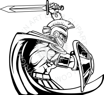 Paladin clipart png black and white library Paladin holding sword and shield png black and white library