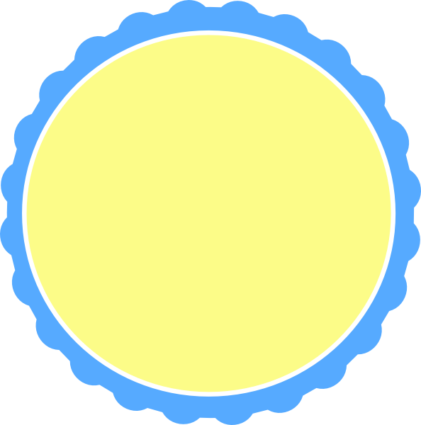 Pale yellow clipart vector library download Light Blue & Pale Yellow Scallop Circle Frame PNG, SVG Clip ... vector library download