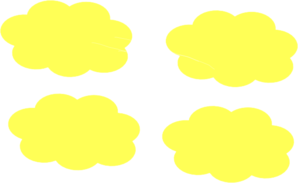 Pale yellow clipart png free stock Pale Yellow Clouds Clip Art at Clker.com - vector clip art ... png free stock