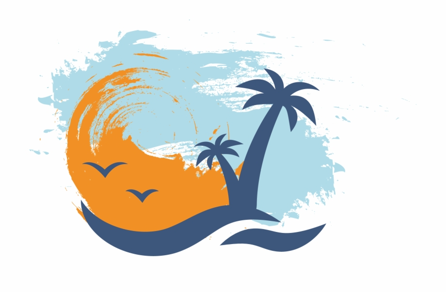 Palm beach party background sunset clipart picture library download Beach Vector - Palms Sunset Icon {#1560936} - Pngtube picture library download