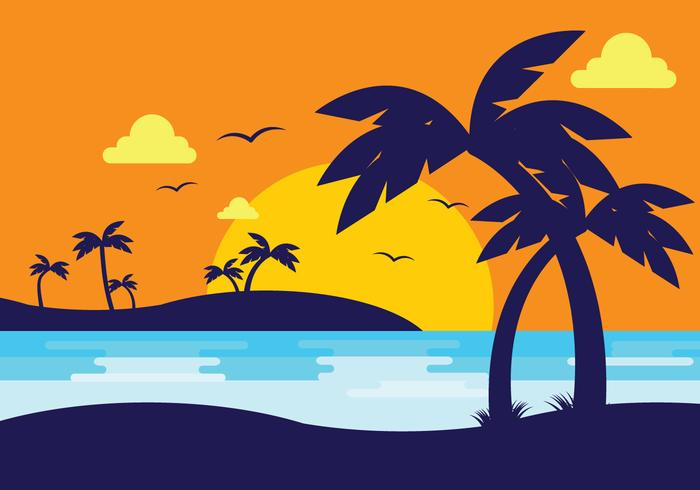 Palm beach party background sunset clipart clip royalty free download Sunset Beach With Palm Silhouette - Download Free Vectors ... clip royalty free download
