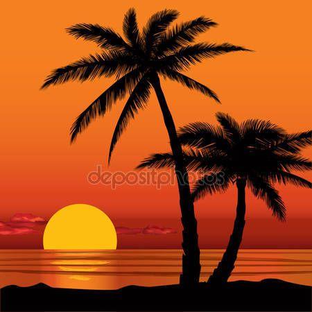 Palm beach party background sunset clipart svg stock Imagem relacionada   VITRAY MANZARA RESIMLERI   Beach sunset ... svg stock