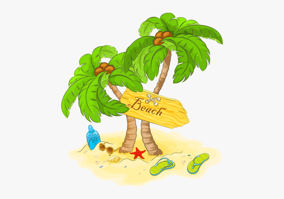 Palm beach party background sunset clipart banner royalty free Transparent Beach Palm Decor Png - Transparent Background ... banner royalty free