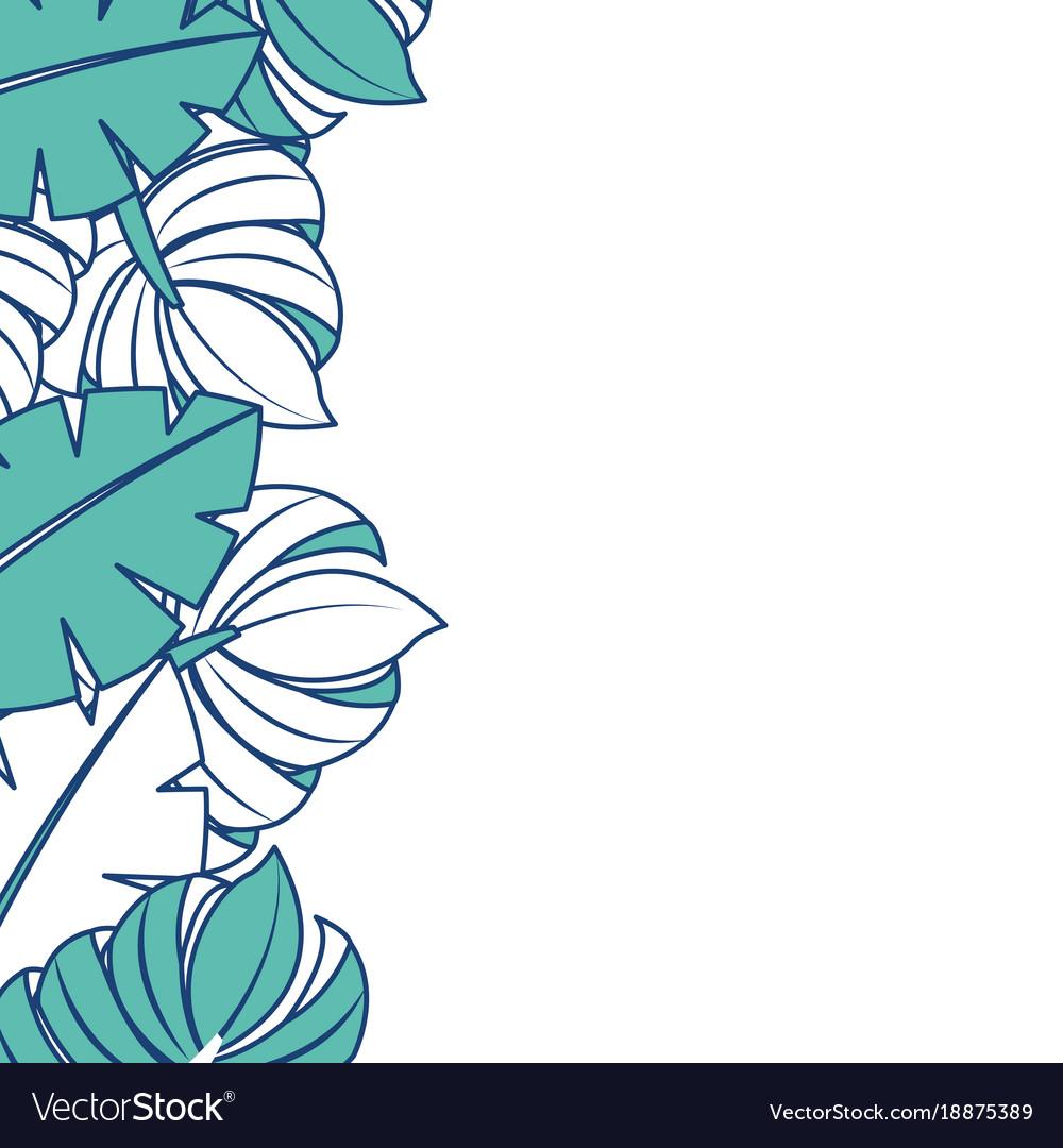 Palm leaf border clipart svg free download Tropical leaves palm tree border decoration svg free download