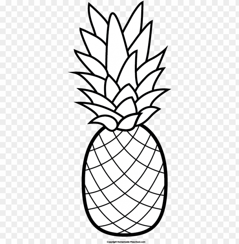 Palm leaves with pineapple clipart black and white clipart library banner transparent download pineapple free clip art ... clipart library
