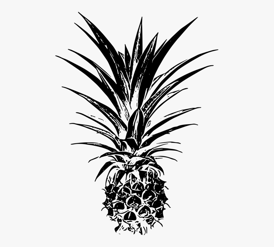 Palm leaves with pineapple clipart black and white free library Palm Trees Pineapple Email Remix Leaf - Palm Tree Beach ... free library
