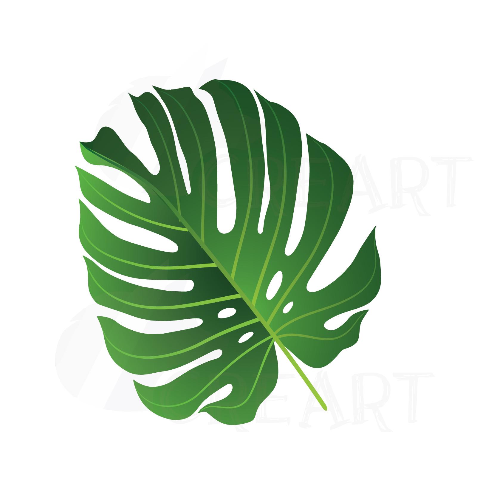 Palm print clipart jpg free download Summer leaf clip art pack, palm leaf collection. Eps, png, jpg, pdf, svg,  vector illustrator & corel files included, instant download jpg free download